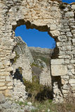 Site of the ruined place called City,  France Royalty Free Stock Photography