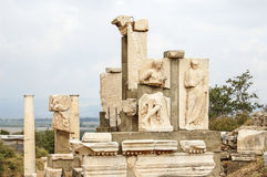 Site and ruins of Ephesus. Stock Photos