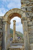 Site and ruins of Ephesus. Stock Photo