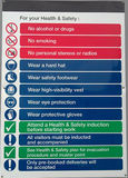 Site Safety Sign Royalty Free Stock Photos