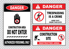 Site safety sign or construction safety Stock Image