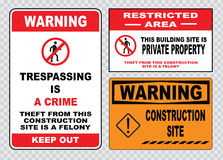 Site safety sign or construction safety Stock Photo