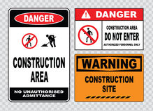 Site safety sign or construction safety Royalty Free Stock Photos