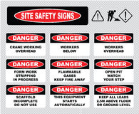 Site Safety Signs Royalty Free Stock Photo