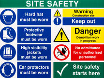 Site Saftey Warning Signs Stock Photos