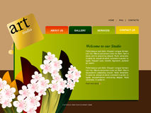 Site-Schablone Lizenzfreie Stockbilder