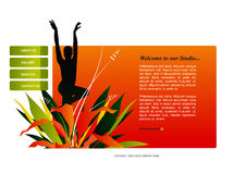 Site-Schablone Lizenzfreies Stockbild