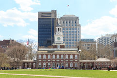Site of the signing of the Declaration of Independence in 1776. Independence Hall National Park in Philadelphia royalty free stock photography
