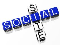 Site social Photographie stock