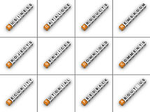 Site-Tabulatoren Stockfotos