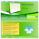 Site Template. For employment company Royalty Free Stock Photography