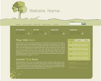 Site template. Template site, Layout using an  tree theme Royalty Free Stock Photos