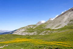 Site of the tray and the lakes of Lignin, france. Site of the tray and the lakes of Lignin, department of the Alps of high Provence, France Stock Photos