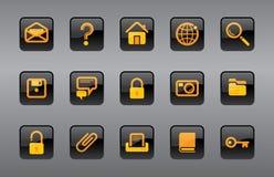 Site- u. Internet-Ikonen Lizenzfreie Stockbilder