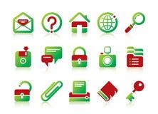 Site- und Internet-Ikonen Stockbild