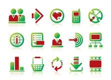 Site- und Internet-Ikonen Lizenzfreie Stockbilder