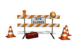 Site is under construction Stock Photos