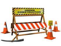 Site under construction Stock Image