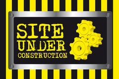 Site under construction background Stock Photography