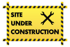 Site under construction banner Stock Photo