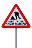 Site Under Construction (with clippng path) Stock Photos