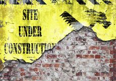 Site Under Construction Grungy Wall Stock Photography