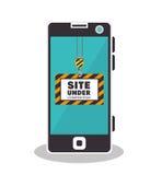 Site under construction icon Stock Photo