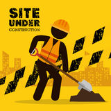Site under construction icon Stock Photography