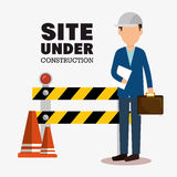 Site under construction icon Stock Image