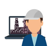 Site under construction icon Royalty Free Stock Photo