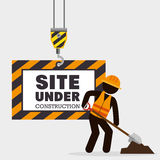 Site under construction icon Royalty Free Stock Photos