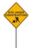 Site Under Construction (on White) Stock Image