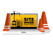 Site under construction scene with cranes Stock Photography