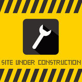 Site Under Construction Vector Title Royalty Free Stock Photography