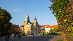 On-site Wawel Royal Castle, residency built at the behest of King Casimir III the Great Stock Photo