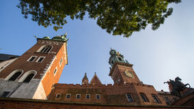 On-site Wawel Royal Castle, residency built at the behest of King Casimir III the Great Royalty Free Stock Photo