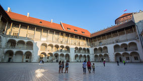 On-site Wawel Royal Castle, residency built at the behest of King Casimir III the Great Royalty Free Stock Images
