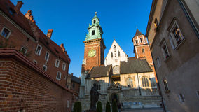 On-site Wawel Royal Castle, residency built at the behest of King Casimir III the Great Royalty Free Stock Photos