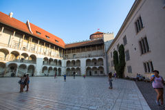 On-site Wawel Royal Castle, residency built at the behest of King Casimir III the Great Stock Photos