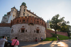 On-site Wawel Royal Castle, residency built at the behest of King Casimir III the Great. Stock Images