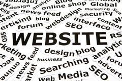 Site Web avec d'autres mots relatifs Images stock