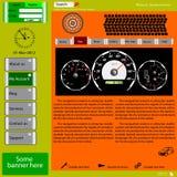 Site Web de descripteur au sujet des sujets automobiles. Images libres de droits
