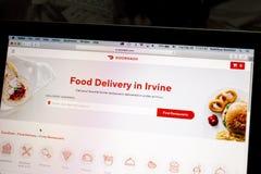 Site Web de DoorDash sur un ordinateur portable photo stock
