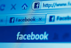 Site Web de Facebook Photos libres de droits