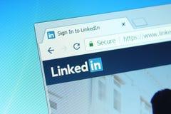 Site Web de LinkedIn photos stock