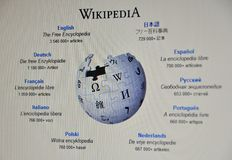 Site Web de Wikipedia Photos stock