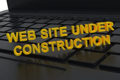 Site Web en construction Photos libres de droits