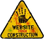 Site Web en construction Image stock