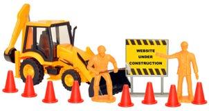 Site Web en construction Photographie stock libre de droits