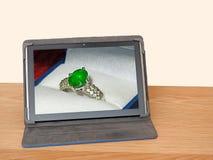 Site Web en ligne d'achats de canal de bijoux Photo libre de droits